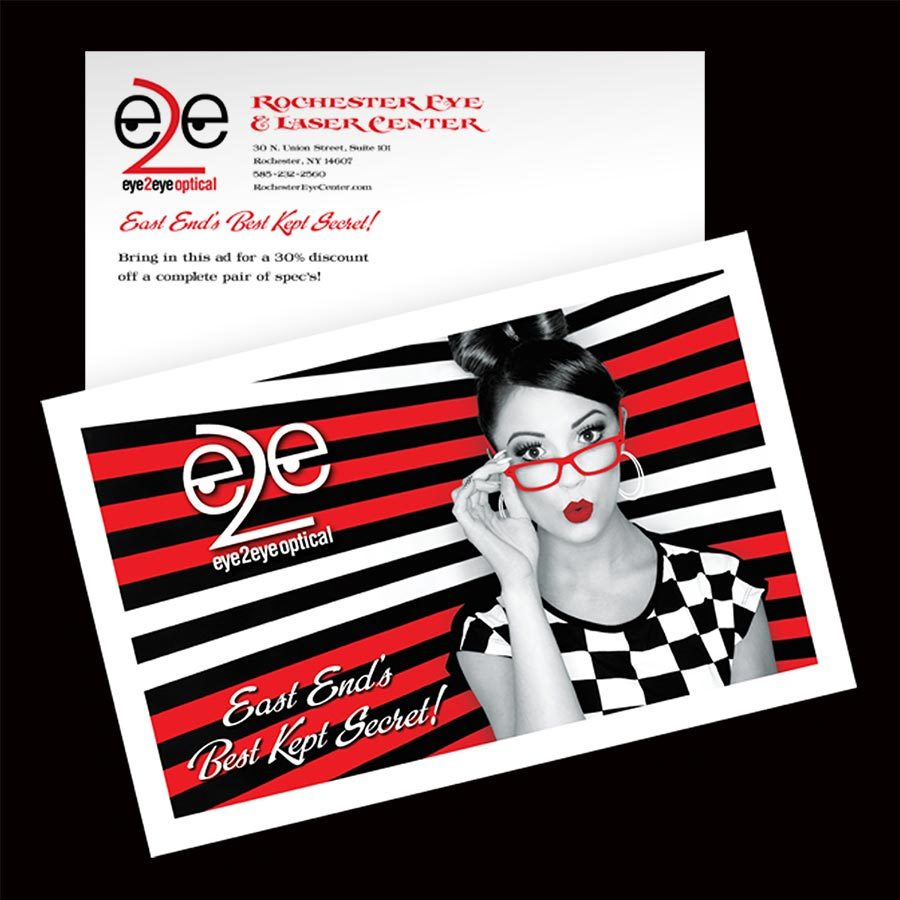 Eye2Eye Optical in Rochester, NY Direct Mail Advertising and Graphic Design Services