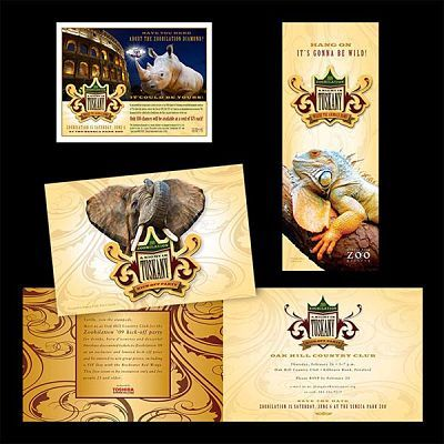 Seneca Park Zoo Rochester, NY Tuskany Event Graphic Design for Direct Mail Pieces