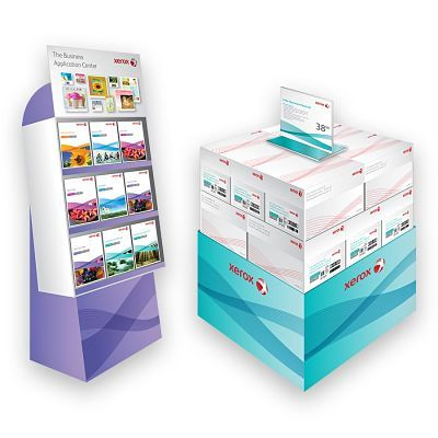 Xerox paper in-store retail point of purchase displat design