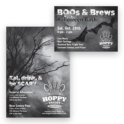 Craft Beer Invitation Graphic Design Example