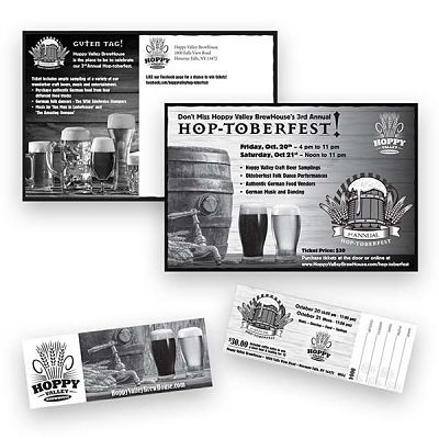 Craft Brewery Direct Mail Invitation and Post Card Design