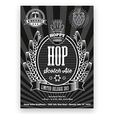 Hop Scotch Ale Beer Label Design