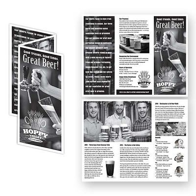 Craft Brewery Tri-Fold Brochure Design