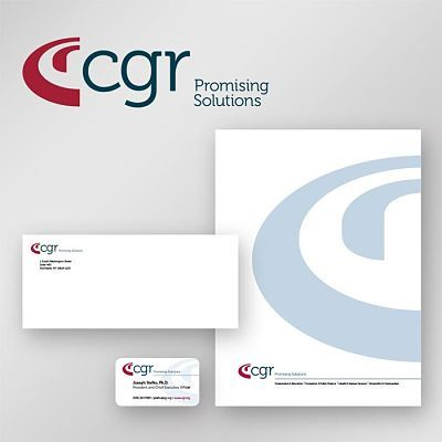 CGR Corporate Identity Design on Gray Background