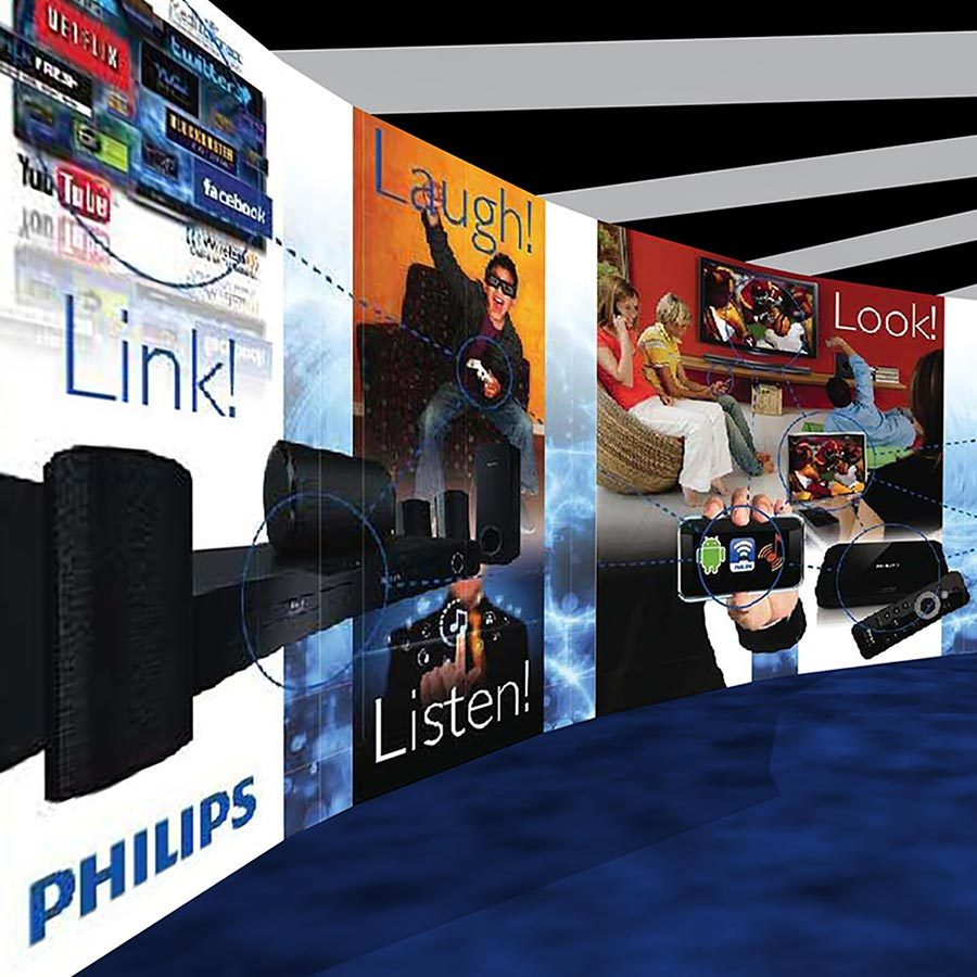Trade Show Promotional Wall Design for Philips TV