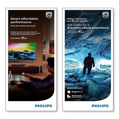 Philips TV Trade Show Banner Display Design