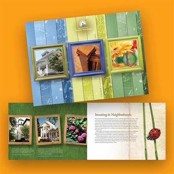 Rochester Housing Partnership Brochure and Annual Report Design