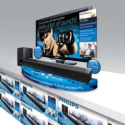 Package design and production art for Philips TV