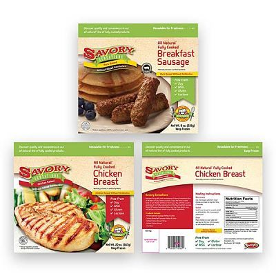 Savory Sensations Products Package Design, Branding, and Logo Design