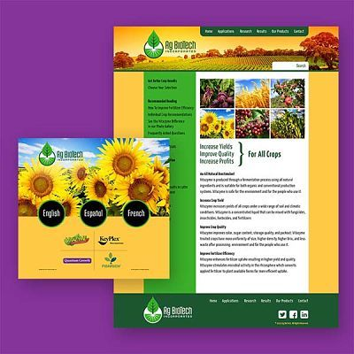Ag BioTech of Livonia, NY, Website Design, Branding, and Logo Design Services
