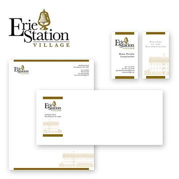 Erie Station Village by Konar Properties in West Henrietta, NY Corporate Identity Design